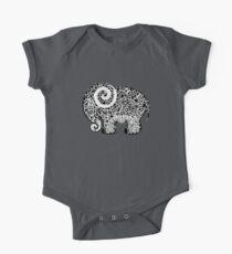Elephant Doodle One Piece - Short Sleeve