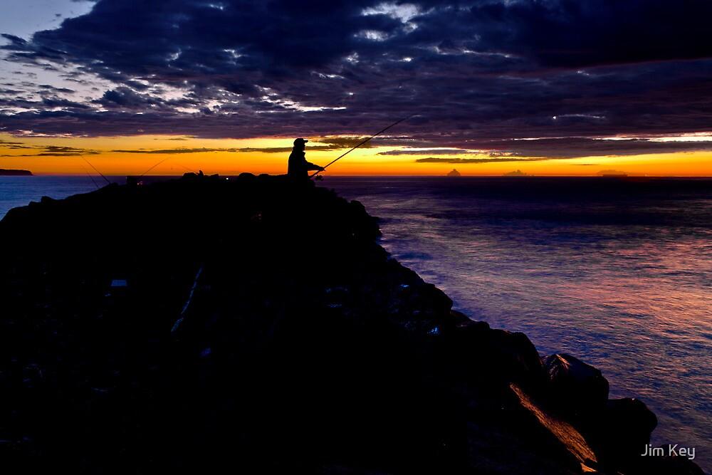 Dawn - Fishin on the Breakwater by Jim Key