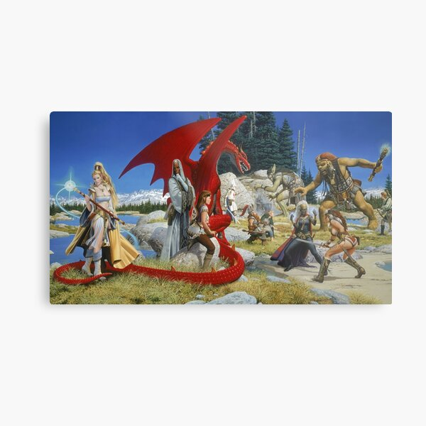 Everquest Main Art Metal Print