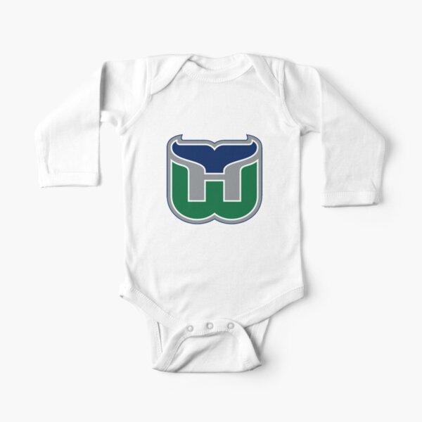 Vintage Hartford Hockey - Retro Whalers Long Sleeve Baby One-Piece