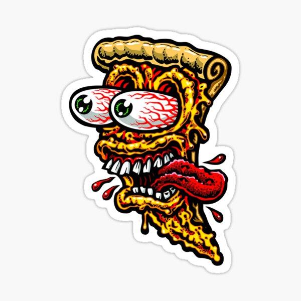 Rat Fink Pizza Sticker