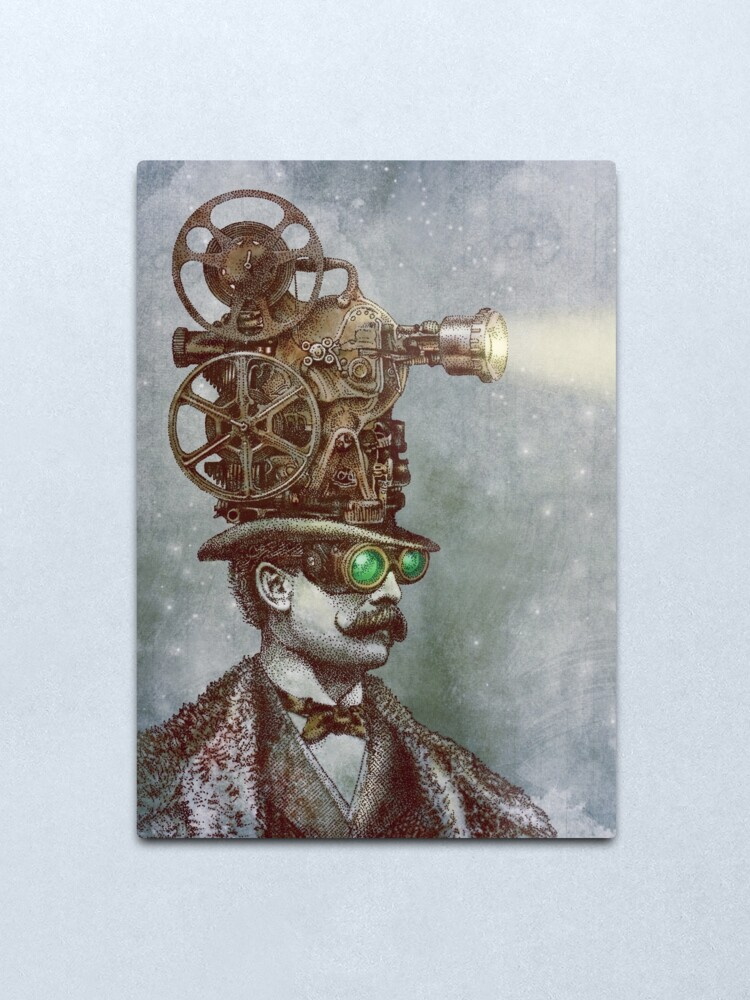 Alternate view of The Projectionist Metal Print