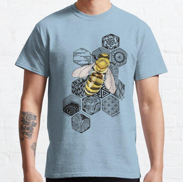 Golden Honey Bee Doodle Classic T-Shirt