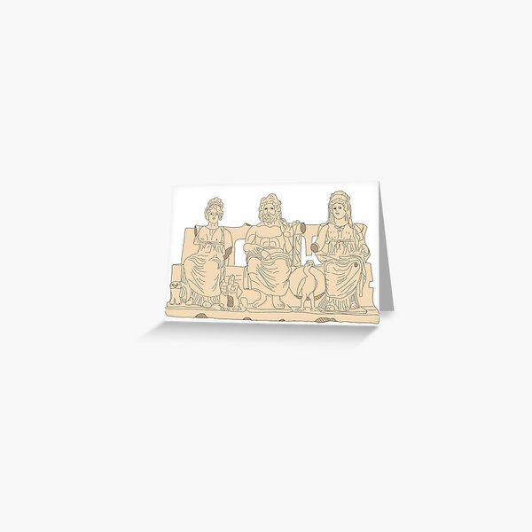 the capitoline triad Greeting Card