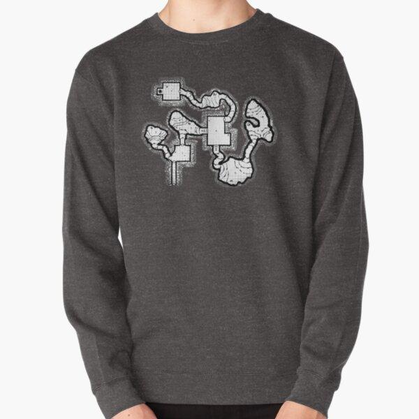 Smuggler's Den Old School Dungeon Map Pullover Sweatshirt