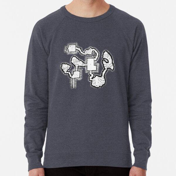 Smuggler's Den Old School Dungeon Map Lightweight Sweatshirt
