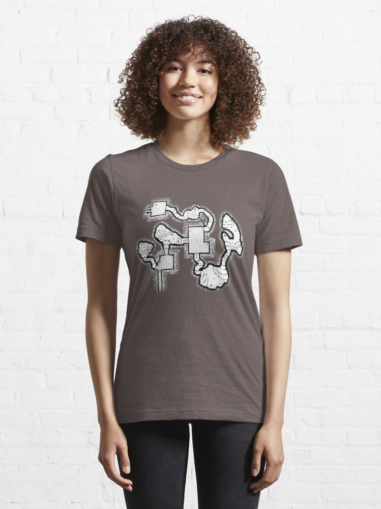 Alternate view of Smuggler's Den Old School Dungeon Map Essential T-Shirt
