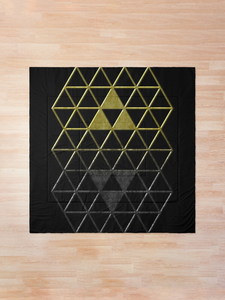 Alternate view of A Link Between Triforces Comforter