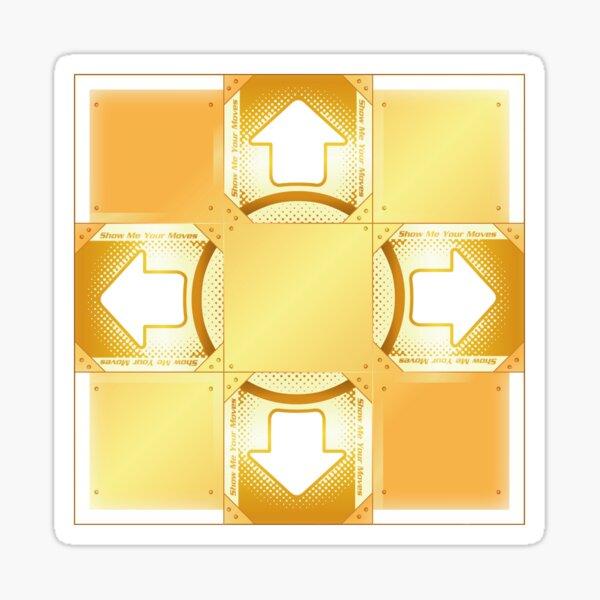 DDR A20 Gold Pad Sticker