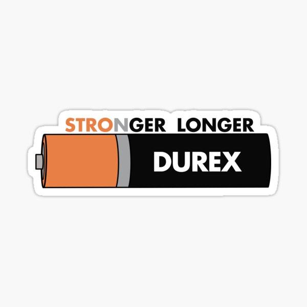 DUREX plus fort plus longtemps Sticker