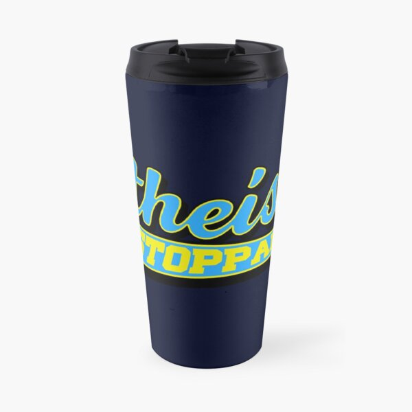 Atheism is Unstoppable Cali College Travel Mug