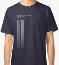 HELLO WORLD - 20 GOTO 10 Classic T-Shirt