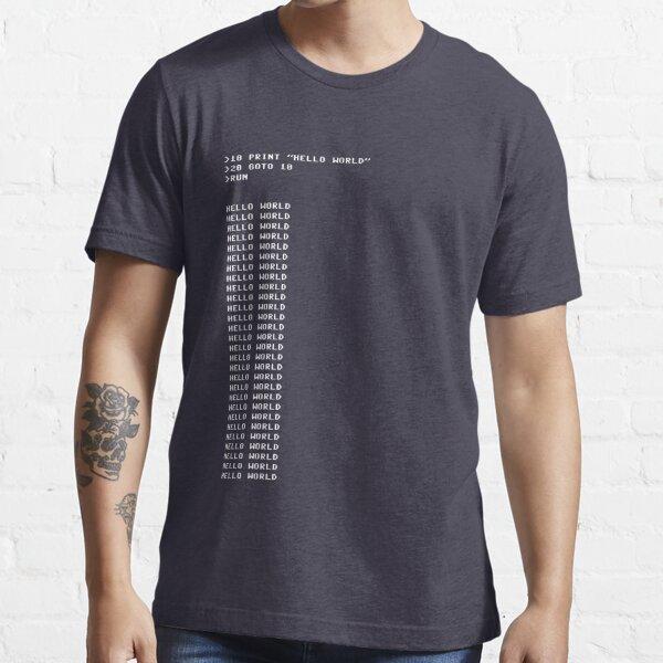 HELLO WORLD - 20 GOTO 10 Essential T-Shirt
