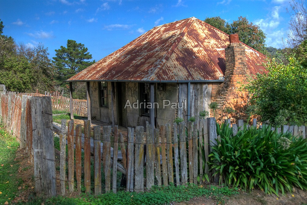 Beyer's Cottage, Hill End, NSW, Australia by Adrian Paul