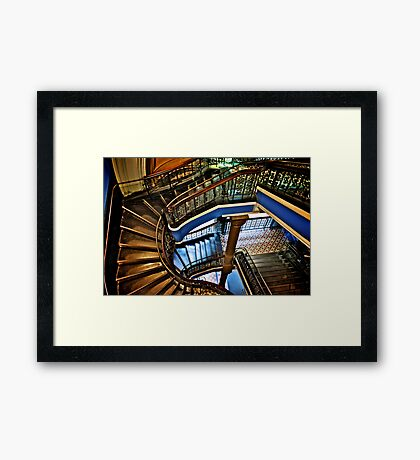 Yes, QVB stairs that I'm appreciate...:Got EXPLORE Featured Work, 6 Featured works Framed Print