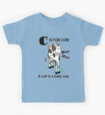 C is for Cow Kids Tee
