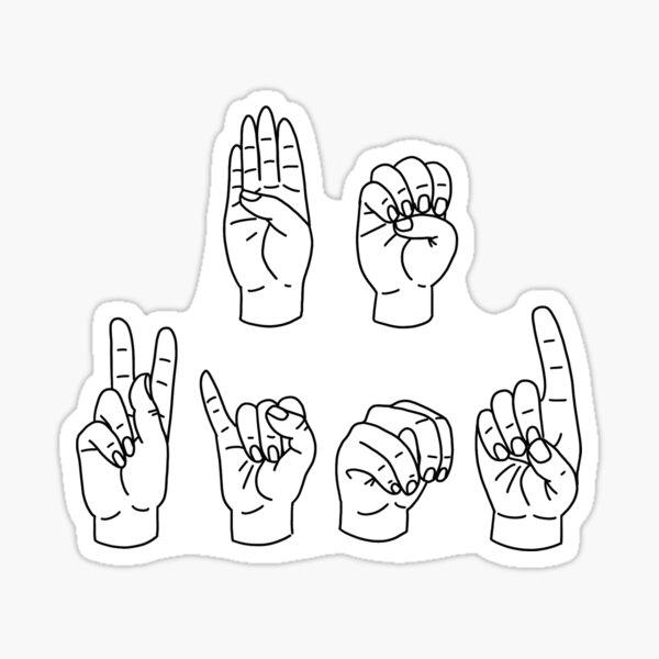 Be Kind ASL Sticker