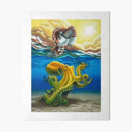Do Octopus Dream of Nautilus Balloons? Art Board Print