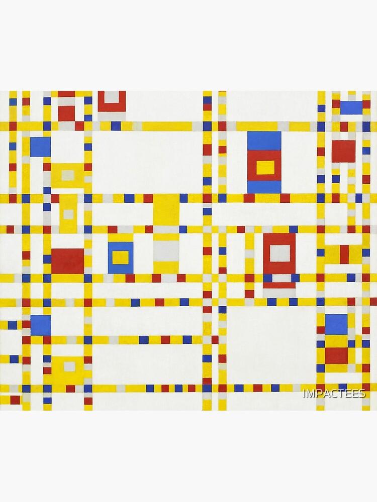 Piet Mondrian-Broadway Boogie Woogie by IMPACTEES