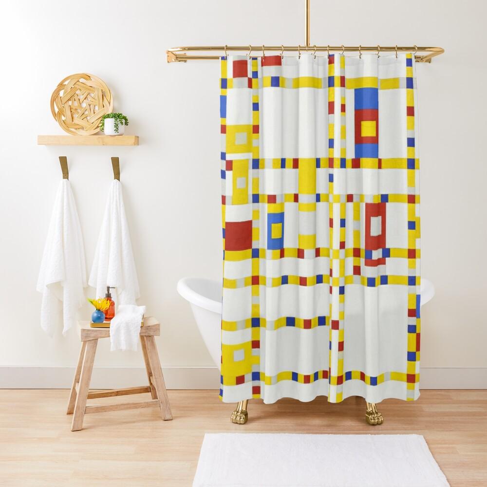 Piet Mondrian-Broadway Boogie Woogie Shower Curtain