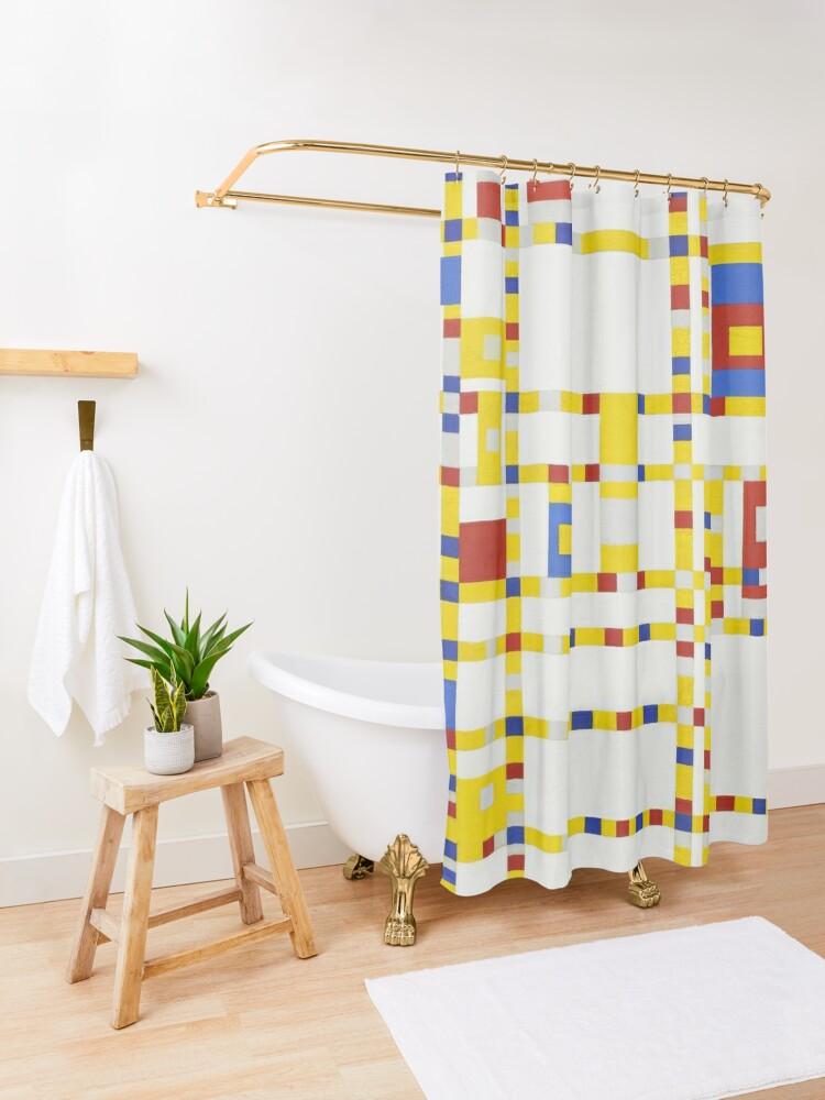 Alternate view of Piet Mondrian-Broadway Boogie Woogie Shower Curtain