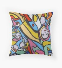 Painting 'Spin Art 3 Topless' Throw Pillow
