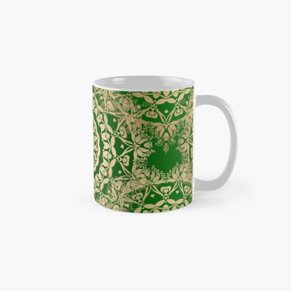 Gold Mandala for Truth and Enlightenment Green Classic Mug