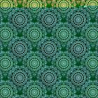 Gold Mandala for Truth and Enlightenment Green by tiokvadrat