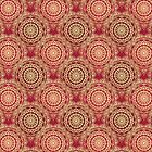Gold Mandala for Friendship and Harmony Red by tiokvadrat