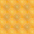 Gold Mandala for Happiness and Joy Yellow by tiokvadrat