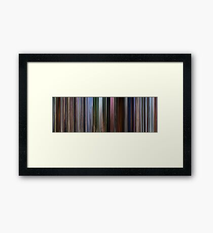 Moviebarcode: Up (2009) Framed Print