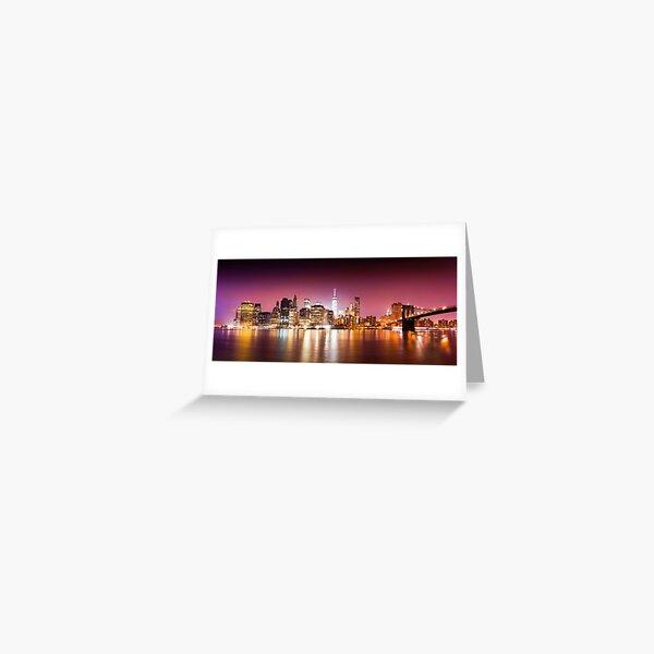New York city sunset panorama  Greeting Card