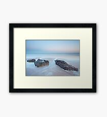 Twlight, Lunan Bay Framed Print
