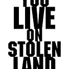 You live on stolen land by Beautifultd