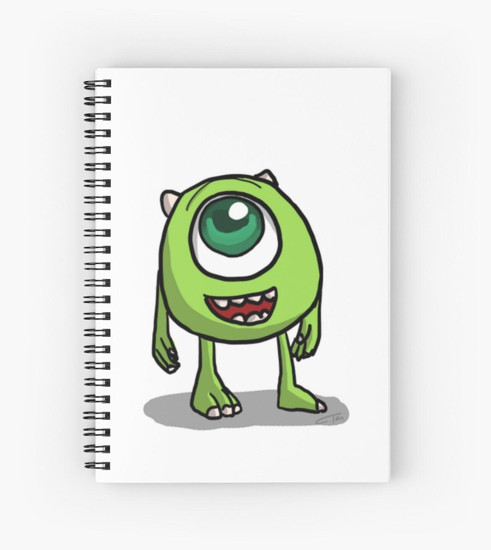 Mike Wazowski Monsters Inc Sketch Spiral Notebooks By Massamoo