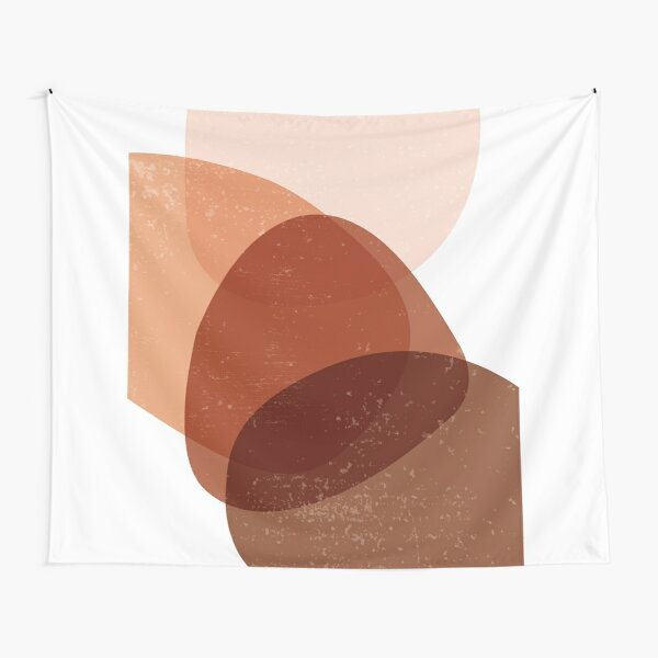 Terracotta Abstract 70 - Modern, Contemporary Art - Abstract Organic Shapes - Minimal - Brown Tapestry