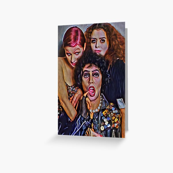 Rocky Horror Picture Show: 'Threesome' by Perceptual Paradox Creations Greeting Card
