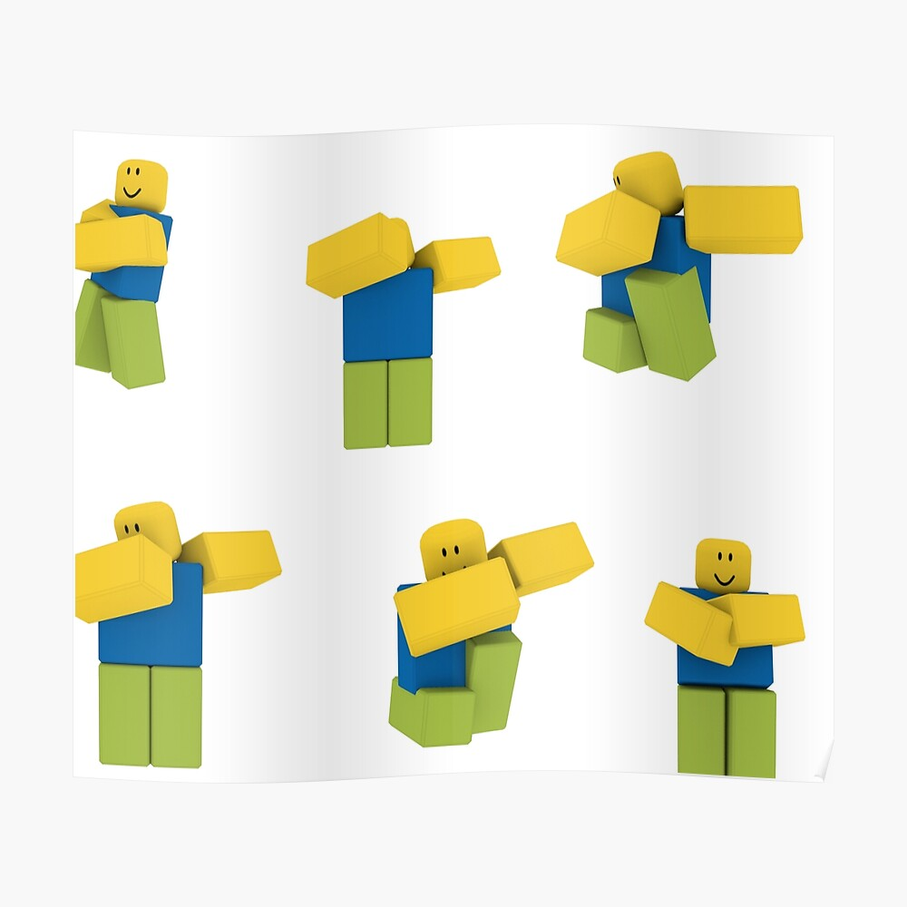 Roblox Aesthetic Yellow Decals Roblox Dabbing Dancing Dab Noobs Sticker Pack Sticker By Smoothnoob Redbubble
