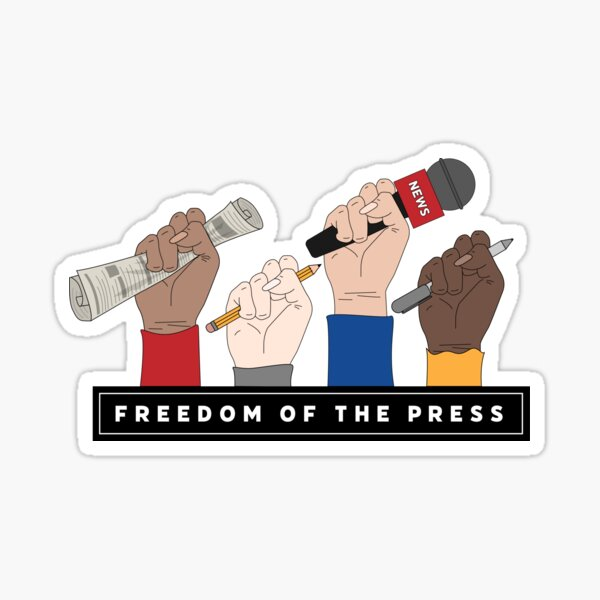 FREEDOM OF THE PRESS Sticker