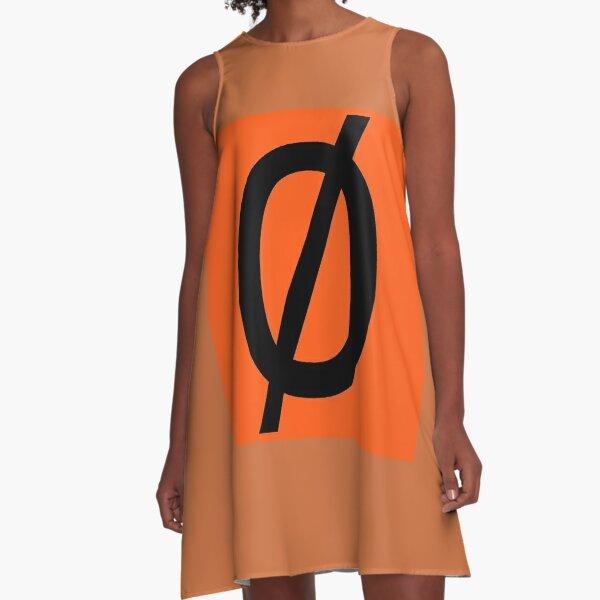 "Empty Set - Unicode Character ""∅"" (U+2205) A-Line Dress"