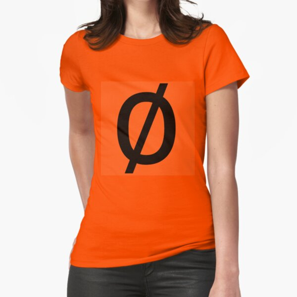 "Empty Set - Unicode Character ""∅"" (U+2205) Fitted T-Shirt"