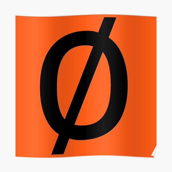 """Empty Set - Unicode Character """"∅"""" (U+2205) Poster"""