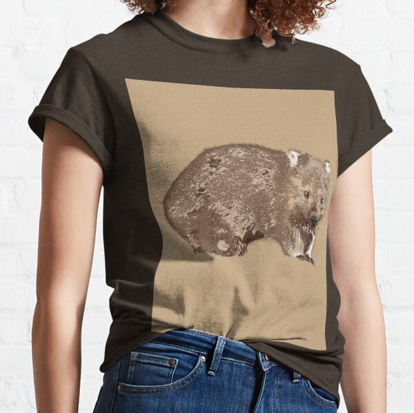 Wombat (Vombatus ursinus) on camel Classic T-Shirt