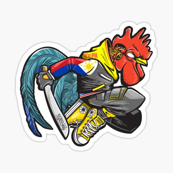 Pinoy Rooster Sticker