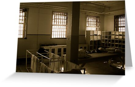 Inside Alcatraz Greeting Cards By Charity Thompson Redbubble