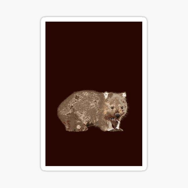 Wombat (Vombatus ursinus) on chocolate Sticker