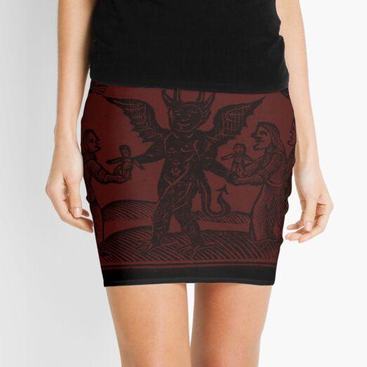 WItch Woodcut 1 Mini Skirt
