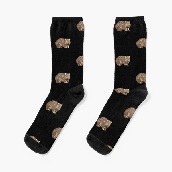 Wombat (Vombatus ursinus) tiled Socks