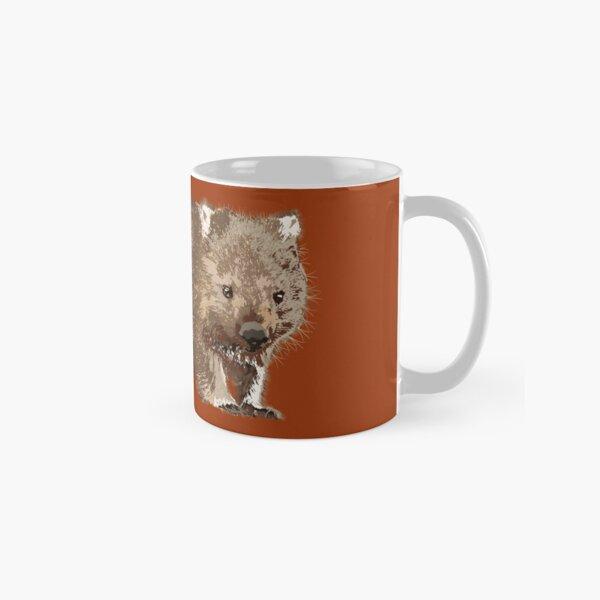 Wombat (Vombatus ursinus) on rust Classic Mug