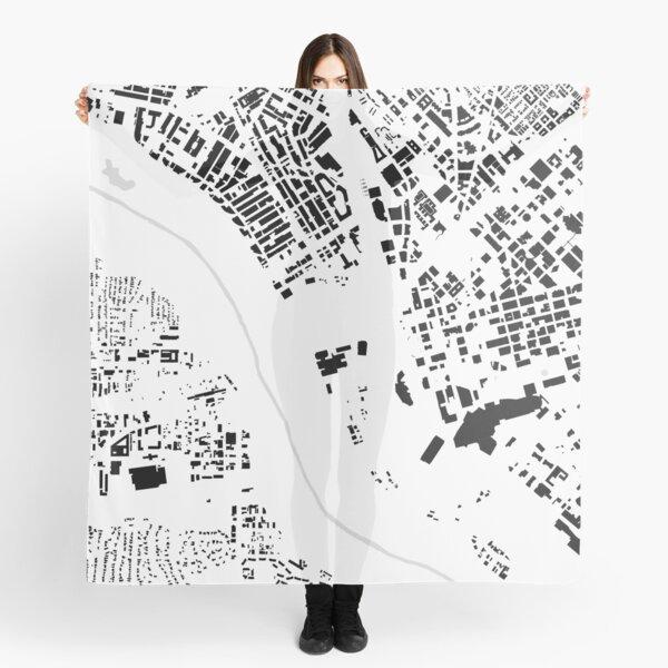 Dallas black & white building city map Scarf